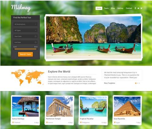 Loại hình của website du lịch.