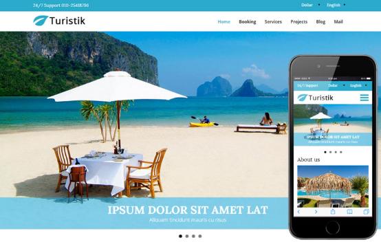 Chọn mẫu web du lịch