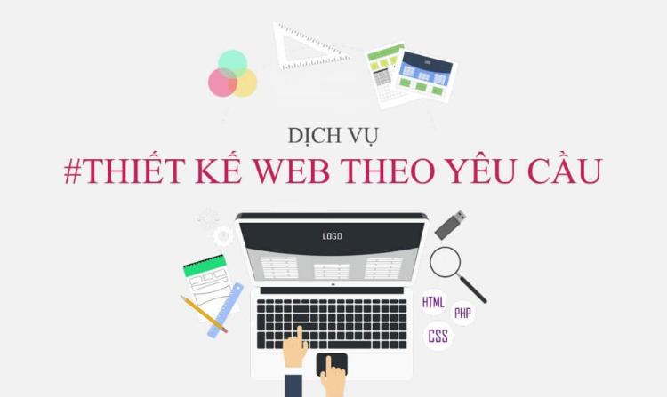 Thiết kế giao diện website theo yêu cầu