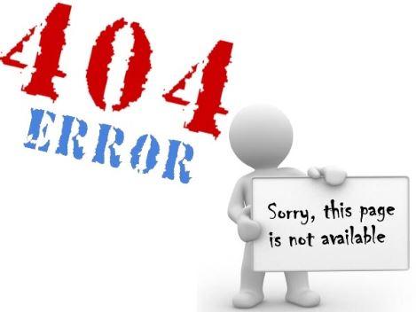 Lỗi 404 của website.