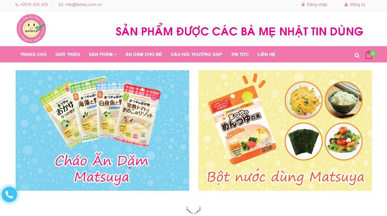 Matsuya - website bán cháo và tin tức chăm sóc bé