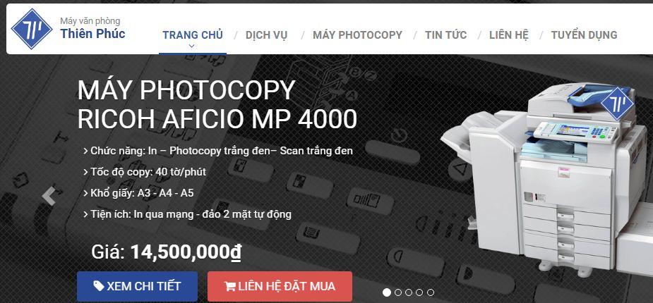 Website cho thuê máy photocopy thienphuc.vn