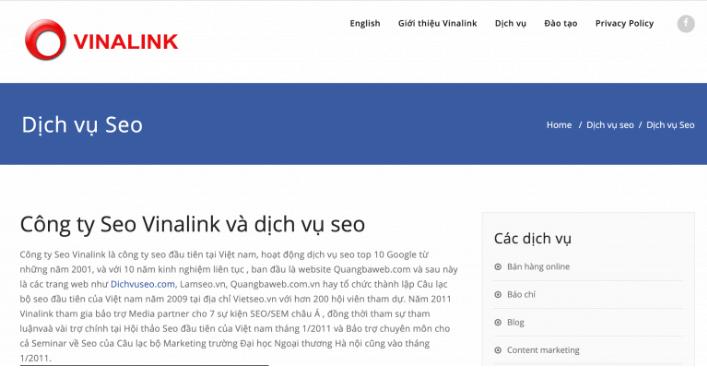 Công ty SEO Vinalink.