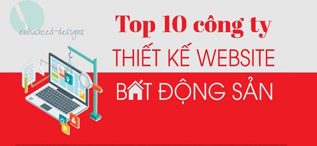 Top 10 công ty thiết kế website bất động sản.