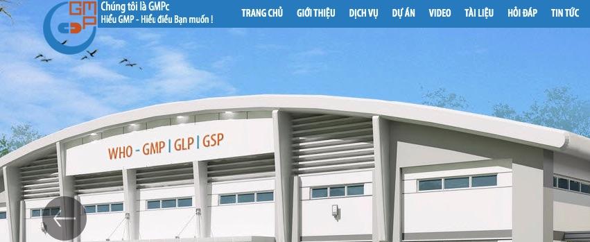 Website bán thiết bị y tế GMP