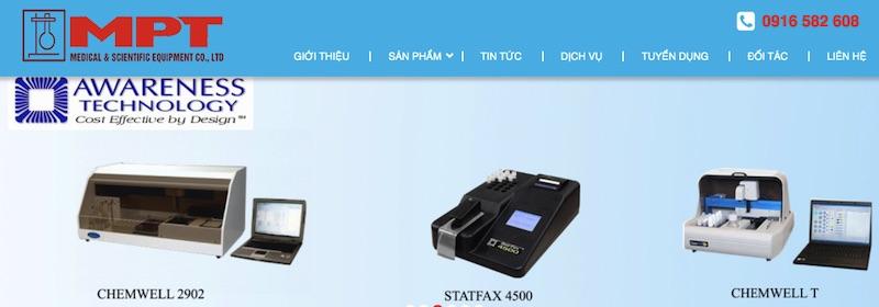 MPTmed - web bán thiết bi y tế chất lượng
