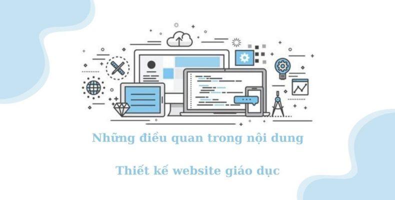 Những điều quan trong nội dung cho thiết kế website giáo dục