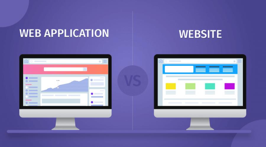 so sánh web application và website