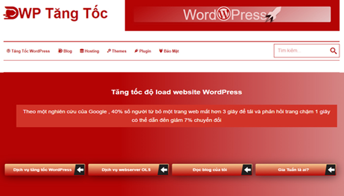 Tăng Tốc WP – Dịch vụ tối ưu hóa website WordPress