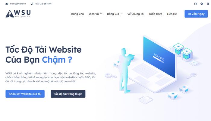 WSU – Dịch vụ tối ưu tốc độ web